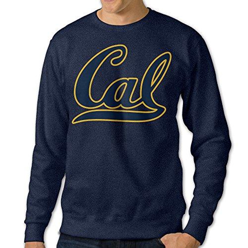 ReBorn Men Pullover California Cal Logo Long Sleeve Tee Navy S]()
