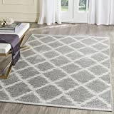 Cheap Safavieh Adirondack Collection ADR120B Silver and Ivory Modern Trellis Area Rug (9′ x 12′)