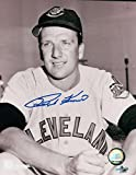 Signed Ralph Kiner Photo - 8X10 Sitting w Bat COA - Autographed MLB Photos