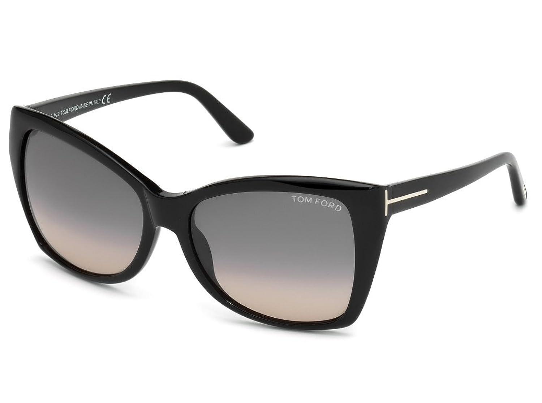 Amazon.com TOM FORD FT0295 Carli Sunglasses Shiny Black w/ Smoke Gradient (01B) TF295 01B 57mm Authentic Clothing  sc 1 st  Amazon.com & Amazon.com: TOM FORD FT0295 Carli Sunglasses Shiny Black w/ Smoke ... markmcfarlin.com