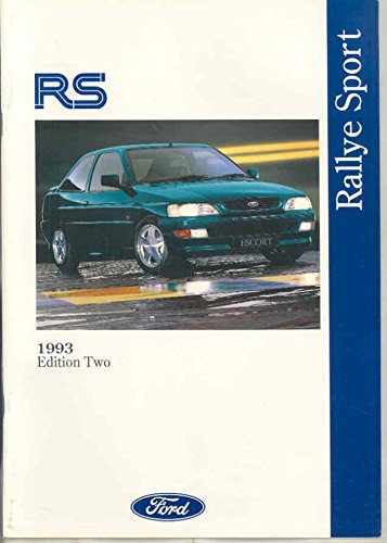1993 Ford Fiesta RS Rallye Sport Escort Cosworth RS1800 RS2000 Brochure