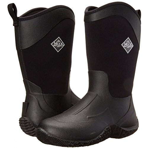 Muck Tack ll Mid-Height Rubber Women's Barn Boots, Black, 11 M US (Tack Muck)
