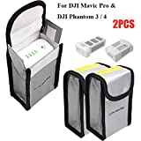 lipo protection bag - Fireproof Battery Bag Lipo Charging Storage Bag for DJI Mavic Pro DJI Phantom 3 Phantom 4, LiPo Battery Pouch Protection Bag for Toy RC Drone Vehicle, 150 x 90 x 55 mm (2PCs)