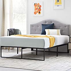 Bedroom LINENSPA Contemporary Platform Bed Frame, Queen modern beds and bed frames
