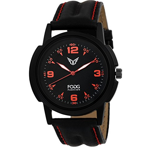Fogg Analog Black Dial Men's Watch 1093-BK