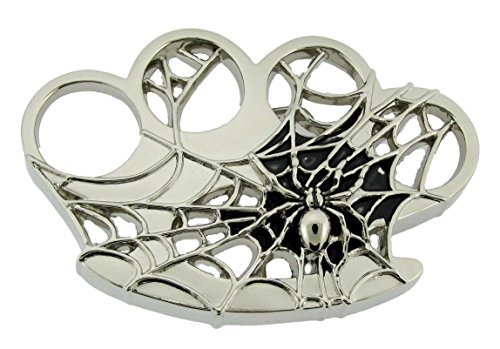- Rhinestone Crystals Rock Rebel Belt Buckle Gothic Tribal Punk Tattoo Celtic Goth (BK Spider Web Size: 4.00