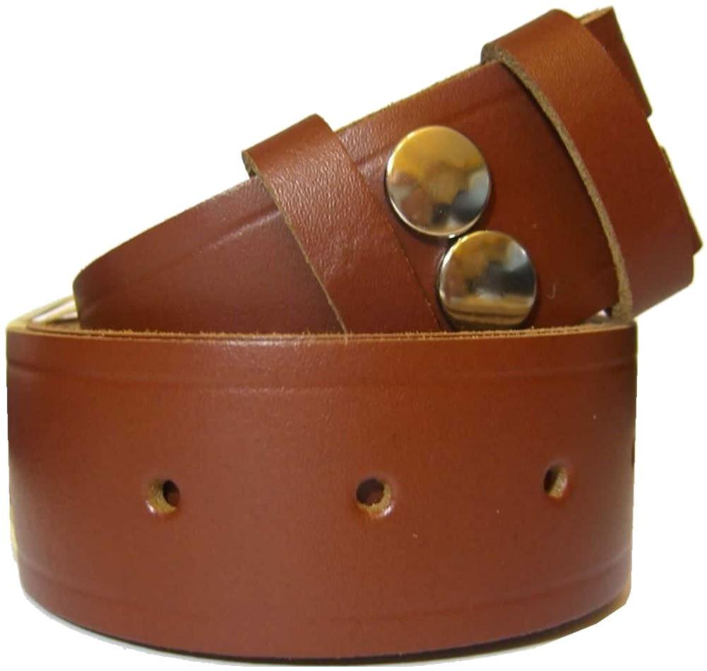 Bucklebox Handmade Snap Fit Leather Belt 38mm (1.5) wide
