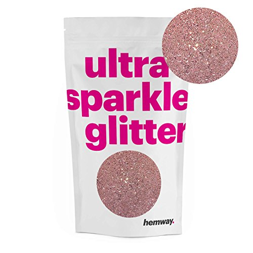 Glitter Dust (Hemway Rose Gold Premium Glitter Multi Purpose Dust Powder 100g / 3.5oz for use with Arts & Crafts Wine Glass Decoration Weddings Cards Flowers Cosmetic Face Eye Body Nails Skin Hair)