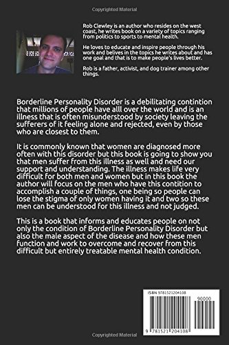 Borderline Personality Disorder: Men Suffer Too: Rob Clewley