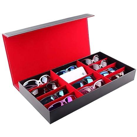 Gafas de sol Gafas Caja de almacenamiento 12 Cuadrícula de ...