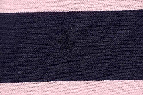 Polo Ralph Lauren Little Girls' (2-6X) Stripe Long Sleeve Shirt-Pink/Navy Blue-6