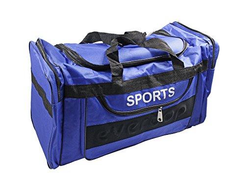 vetrineinrete Sporttasche für Fitness Fußball Sport mit Griffen 4Taschen Tasche 60x 30x 30cm blau NqlfjOXJV7