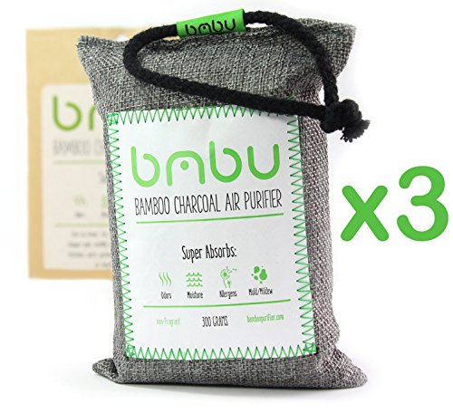 Spray Kitchen Fragrant (bmbu 300g Bamboo Charcoal Car Deodorizer/Car Freshener Bag - Remove Air Odor, Control Moisture & Purifier your Car, Closet, Bathroom, Kitchen, Litter Box - Non-Fragrant Alternative to Sprays)