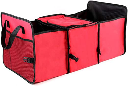 Non-woven Fabric Car Truck Portable Organizer Folding Storage Bag Case 3-Section