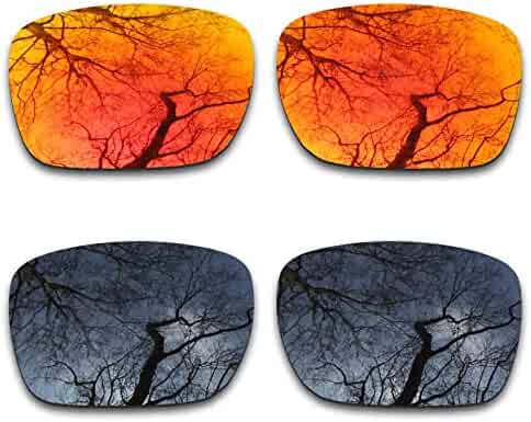 735fc1ae5a050 2 Pair Polarized Lens Replacement for Oakley Holbrook XL Black Fire Orange