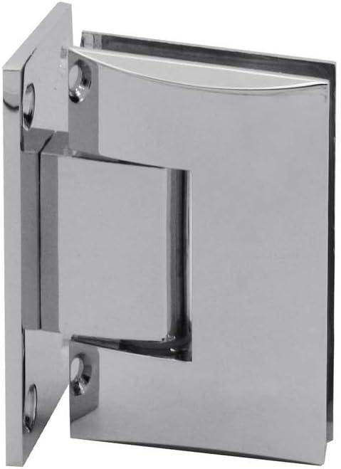 Variante:Modell 2-1 St/ück Glas-Scharnier Verchromt Pendelscharnier Wand-Halterung Glas-T/ür Dusche Duscht/ür Bad T/ürscharnier Beschlag Set Glanz