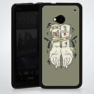 Carcasa Design Funda para HTC One M7 HardCase black - Je Ne Regrette Rien