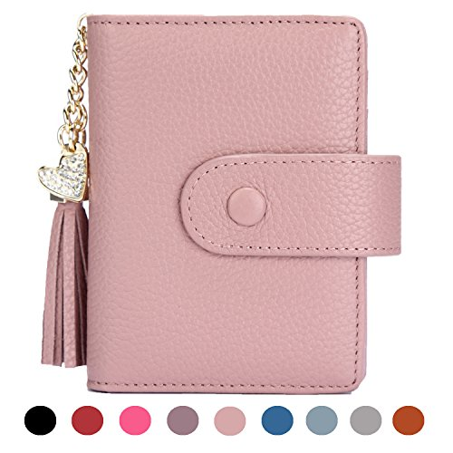 Women's Mini Credit Card Case Wallet with ID Window and Zipper Holder purse ID Wallet (Mens Credit Card Case)