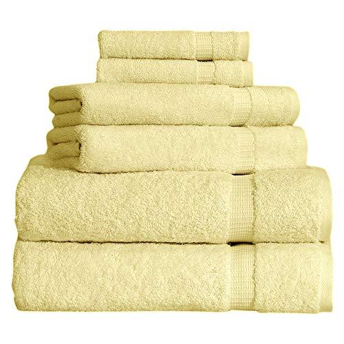 SALBAKOS 6 Piece Bath Towel Set - Turkish Luxury Hotel & Spa