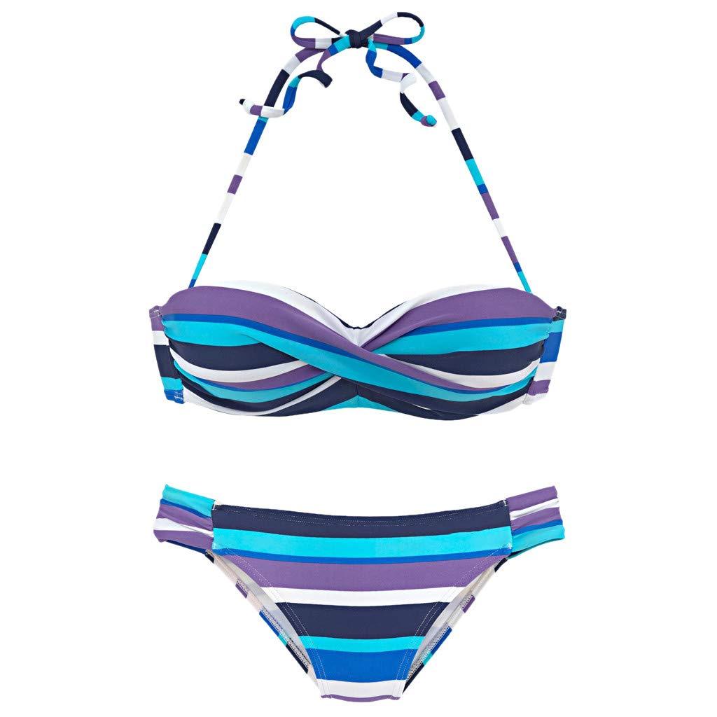 Amazon.com: FEDULK Womens Bikini Set Two Pieces Rainbow ...