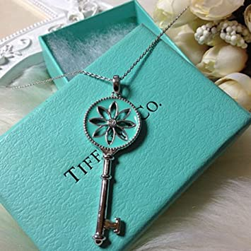 1481c4326 Image Unavailable. Image not available for. Color: Tiffany & Co. Blue  Enamel Knot Key Pendant with Oval ...