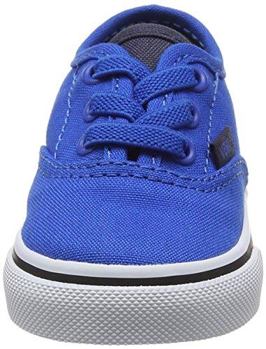 Vans Td Authentic Elastic Lace, Botines de Senderismo para Bebés Azul (Canvas Imperial Blue/parisian Night)