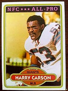 HARRY CARSON - New York GIANTS - Hall of Famer - Near Mint - 1980 Topps #135