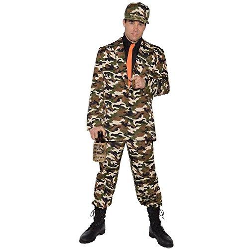 Underwraps Costumes Men's Funny Bayou Costume - Bayou Beau, Camo/Black/Orange, One Size]()