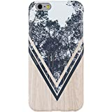 nature iphone 6 case - iPhone 6 Case,iPhone 6s Case,DICHEER Slim-Fit Anti-Finger Print Phone Cases iPhone 6,IMD Soft TPU Case Cover,Wood Design Case for iPhone 6/6s 4.7'' only - 06