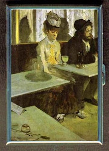 Edgar Degas Absinthe DrinkerステンレススチールIDまたはCigarettesケース( Kingサイズまたは100 mm )   B00SW1OMG2