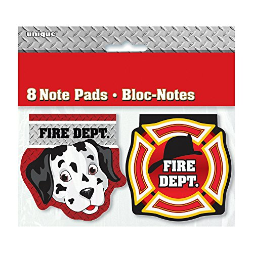 Fire Truck Birthday Notepad Party Favors, 8ct