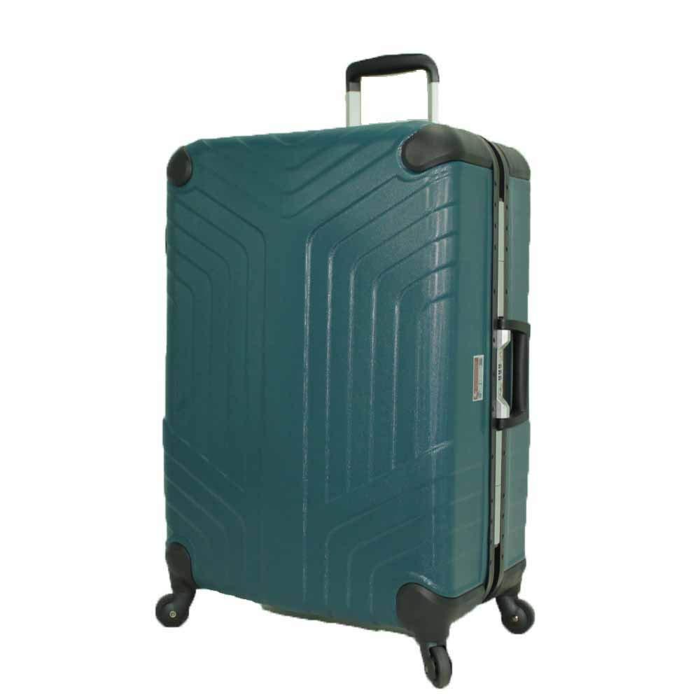 [プレジデント]President スーツケース アルミフレーム Mサイズ STRATA  ブルー B07J64M4H6