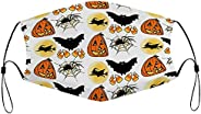 Happy Halloween Face mask with Filter Breathable Comfortable General Purpose for Adults Washable Reusable 1PCS