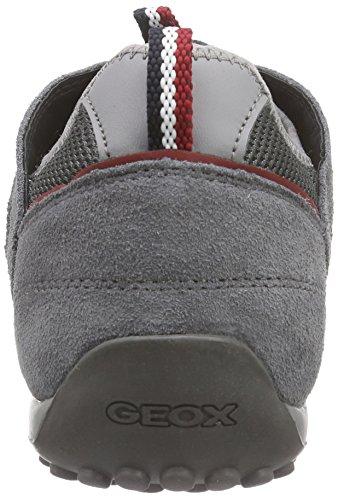 Geox Uomo Snake C, Men's Low-Top Sneakers Grey - Grau (Dk Greyc9002)