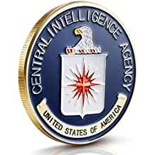 CIA Challenge Coin Collection Set : Enamel paint with Gold Plated Detailing on Coins