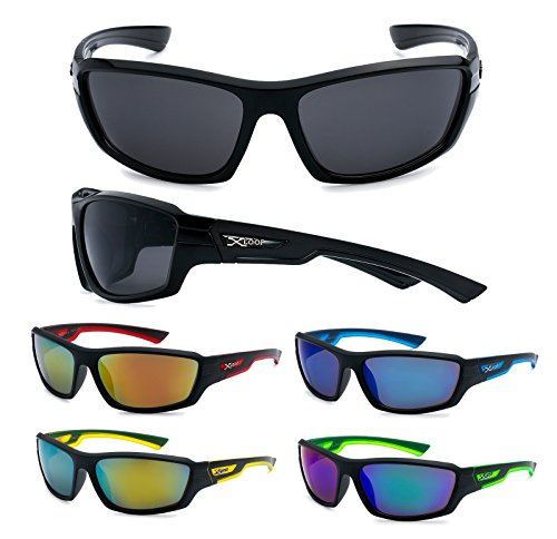 12 Pairs Of Wholesale Mens Plastic Wrap Sports Two Toned Sunglasses BuyWholesaleSunglasses, Assorted Colors -