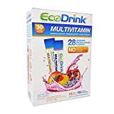 Ecodrink Multivitamin 31 Highly Absorbable Vitamins, Minerals, Nutrients with No Sugar/ Calories/ Carbs/ Caffeine- 30 Packets and Shaker Bottle Included (15 Packets Blueberry Pomegranate, 15 Packets Peach Mango) 7.19 Oz Dietary Supplement