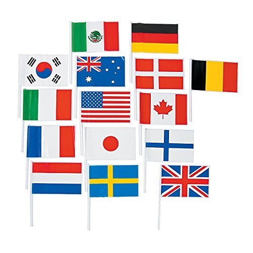 Flags of All Nations, International Flags - 72 flags for Party Decorations, School Events, Cultural -