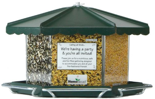 - Homestead Triple Bin Party Bird Feeder (Green River Texture) - 3500