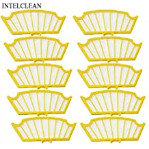 VCPS(TM) Replacement Yellow Filter Pack Filter kit for iRobot Roomba 500 550 560 530 540 550 580 Vacuum Cleaners 500 Series Filter 81502 (10)