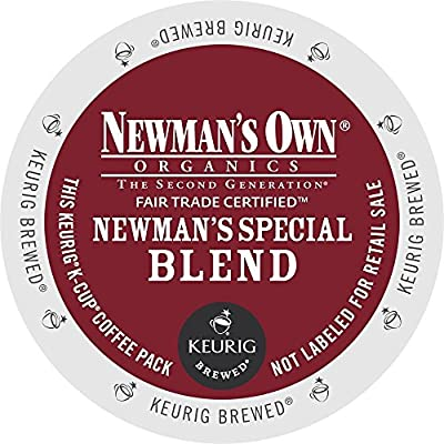 Newman's Own Special Blend Coffee, Medium Roast Coffee K-Cup Portion Pack for Keurig K-Cup Brewers