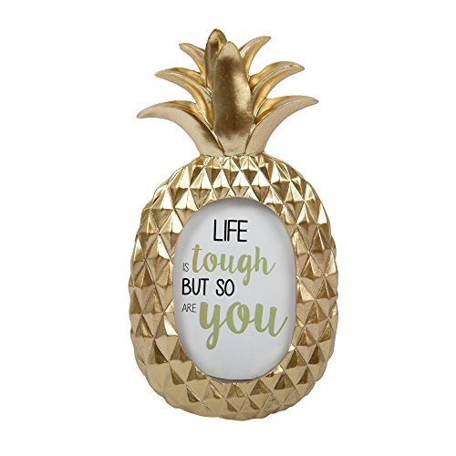 CTG, Cute Pineapple Picture Frame, 4 x 7 inches, Gold ()