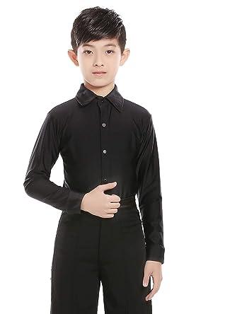 d6550e080e2d0 Daydance Kids Boys Latin Shirts Ballroom Salsa Tango Dance Clothes with  Shorts