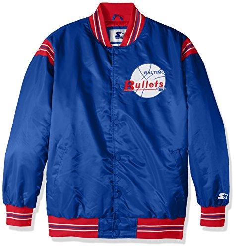 Bullet Jacket (NBA Washington Bullets Men's The Enforcer Retro Satin Jacket, Medium, Royal)