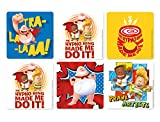 Captain Underpants Stickers - Roll of 100