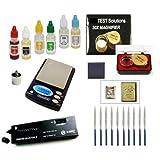 Gold Acid Testing Kit + Electronic Diamond Tester Checker + Digital Test Scale