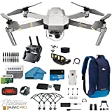 DJI Mavic Pro Platinum - Drone - Quadcopter - with 32gb SD Card - 4K Professional Camera Gimbal - Bundle Kit - with Must Have Accessories