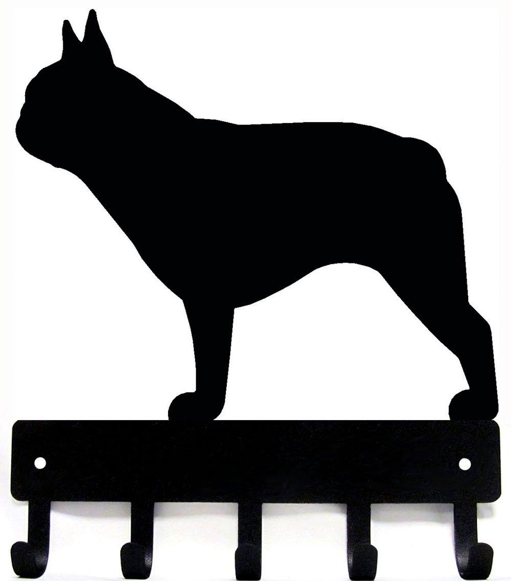 French Bulldog Key Rack & Dog Leash Hanger - Small 6 inch