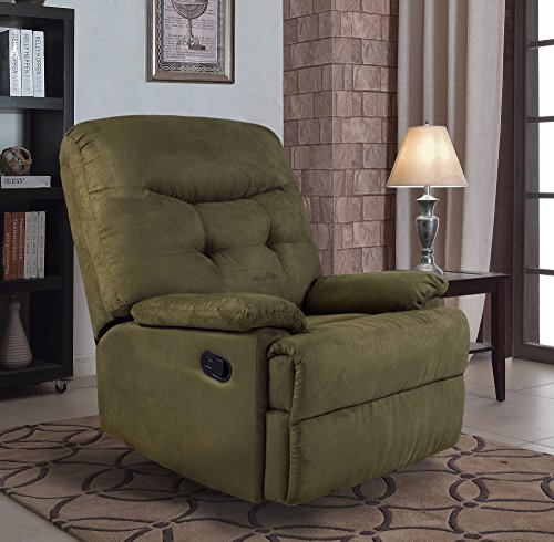 Ocean Bridge – Furniture Collection – Big Jack Microfiber Recliner Chair, Green