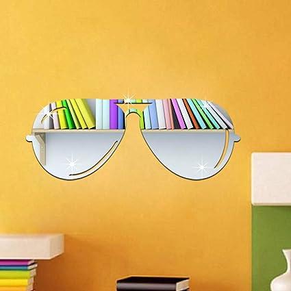 Acrílico Espejo Pared De 3d Gafas Sol Pegatinas QdsCthr